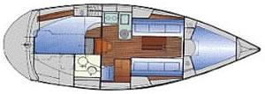 2 cabin sailboat