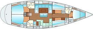 5 cabin sailboat