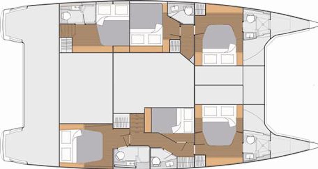 A Saba 50 6 Cabin Layout