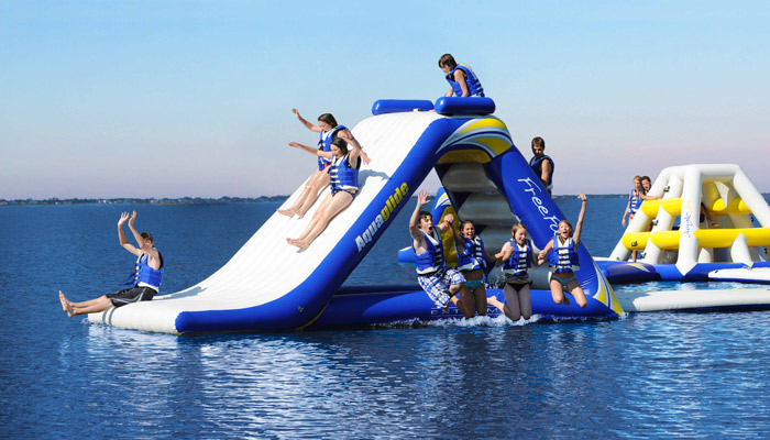Clamber over your yacht's inflatable playground