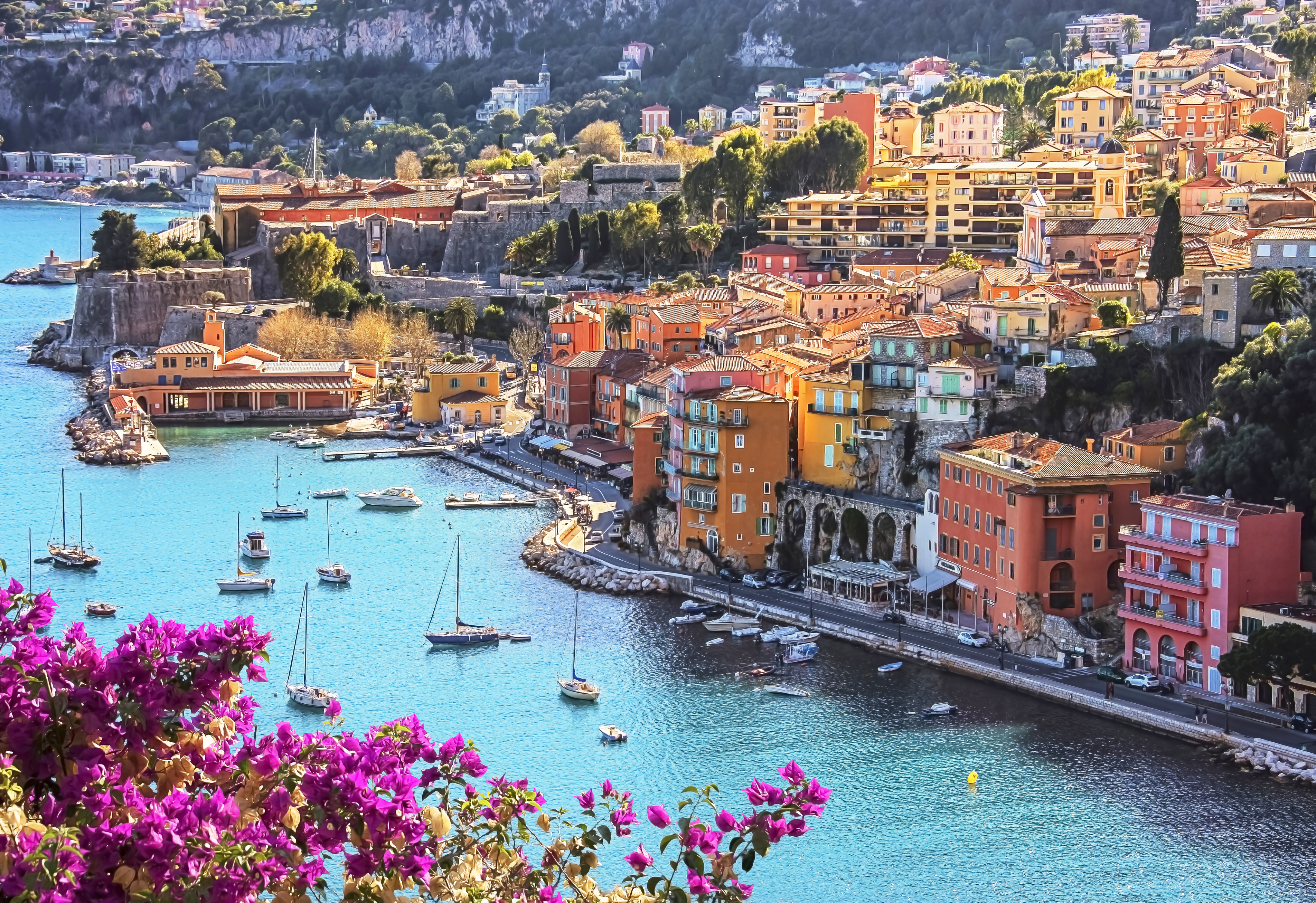 Colourful Village Villefranche Sur Mer in the French Riviera