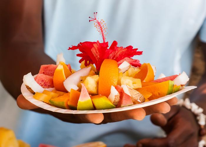 Enjoy fresh local food when you visit the Seychelles