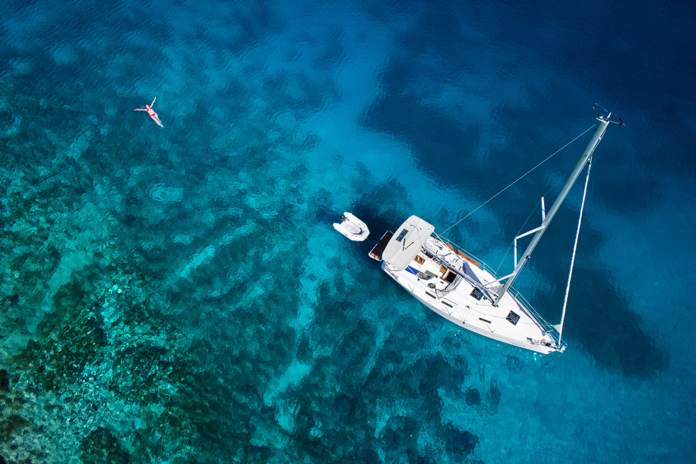 social distancing on a bareboat yacht charter