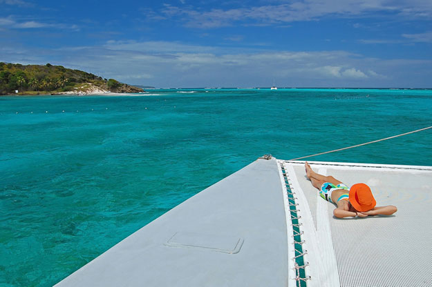 Approaching Tobago Cays, St Vincent and the Grenadines