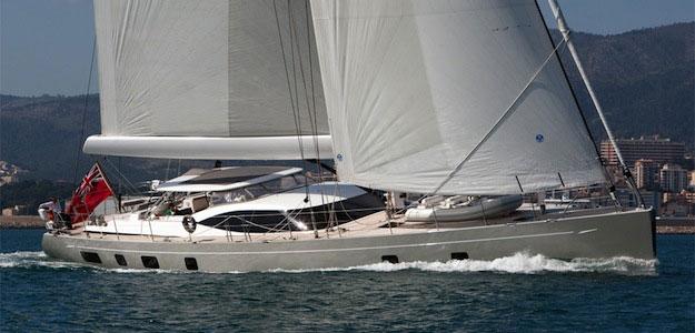A luxury sailing yacht