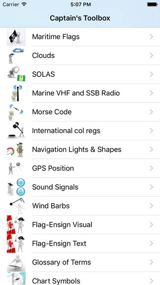 Captain's Toolbox iPhone App for manuals and recources