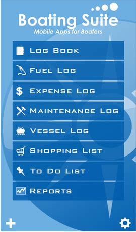 boating suite app for managing your boat logs