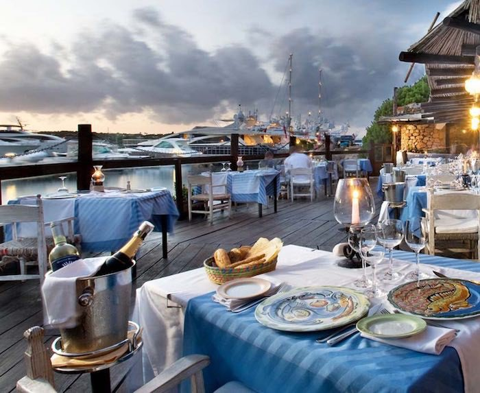 Dining on the water's edge at Il Pescatore