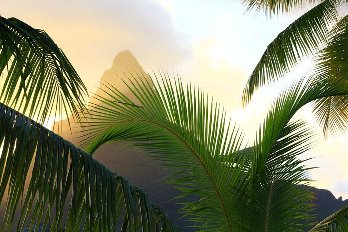Mount Otemanu in French Polynesia