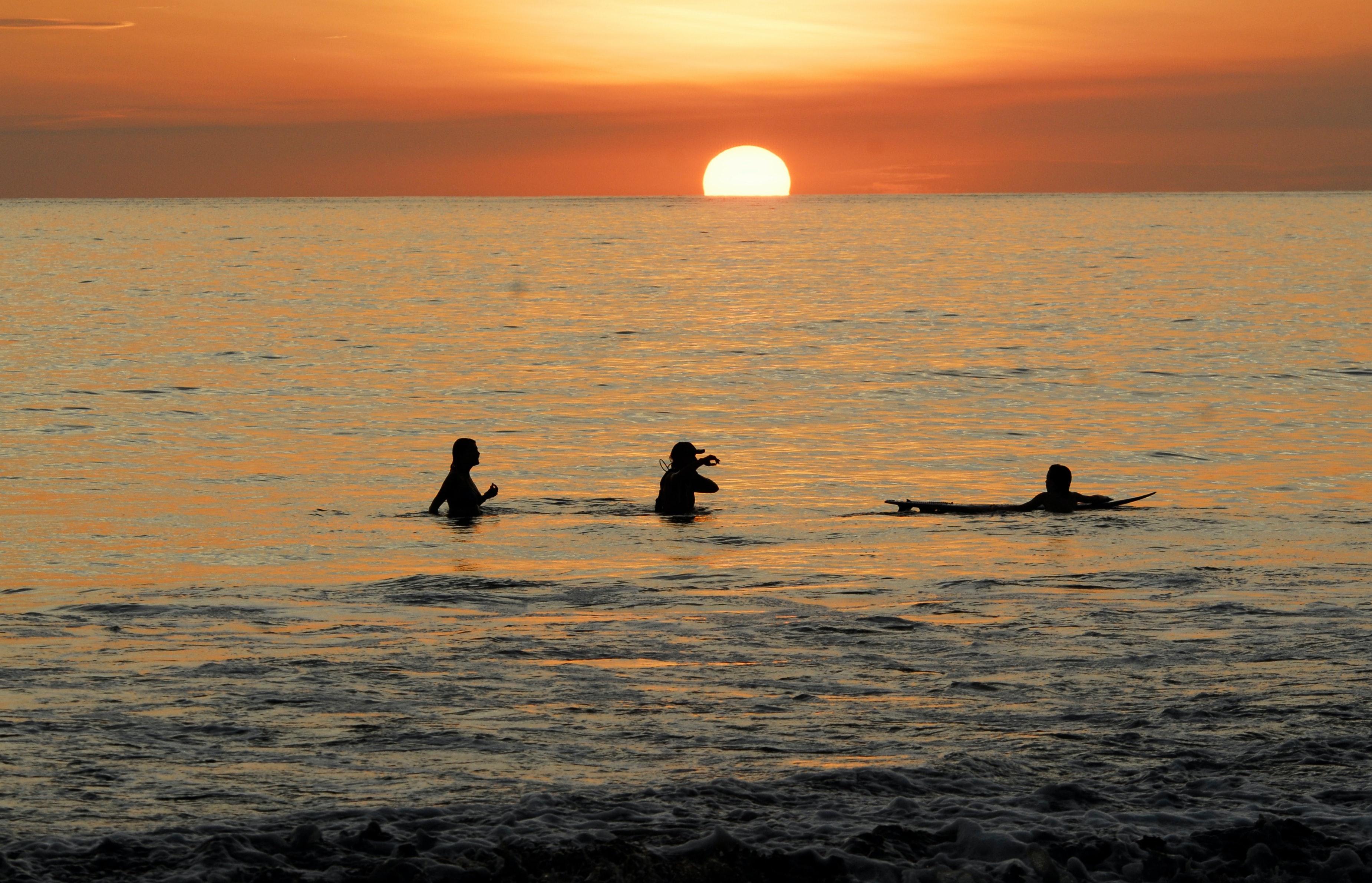 Sunset Surf on Costa Rica's Pacific Coast