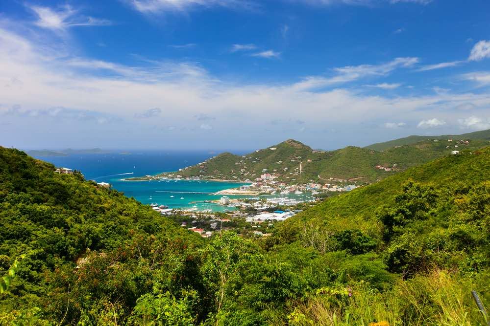 Tortola aerial Road Town