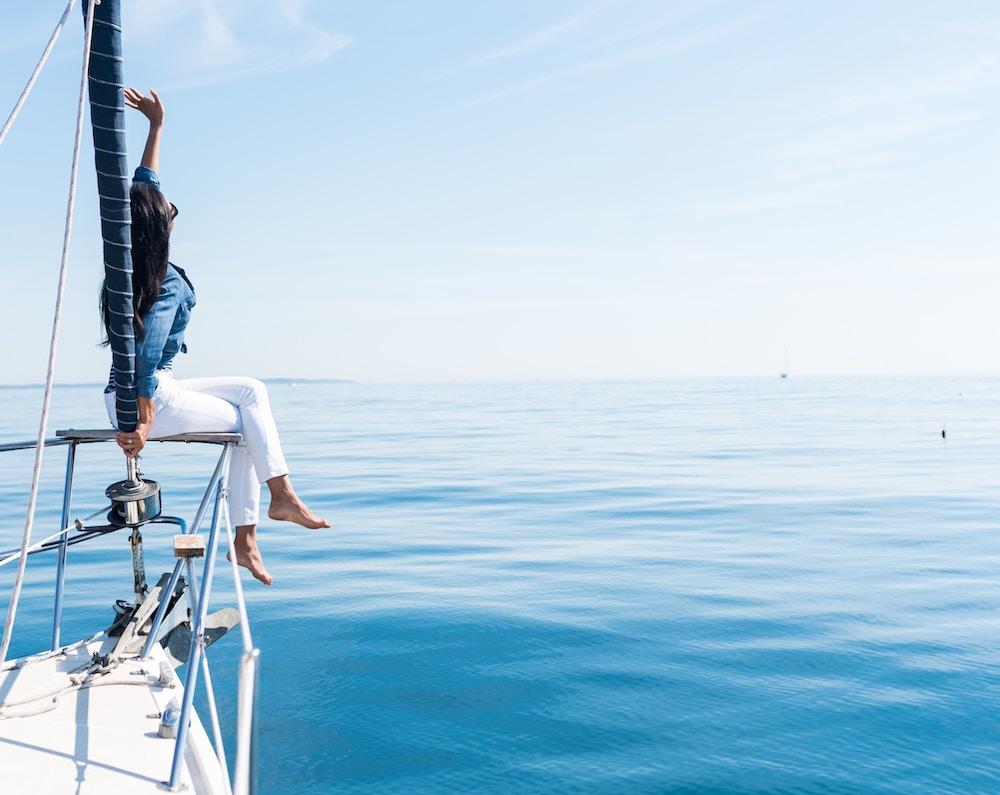 boat, sailing, holiday, sea, ocean, Mediterranean