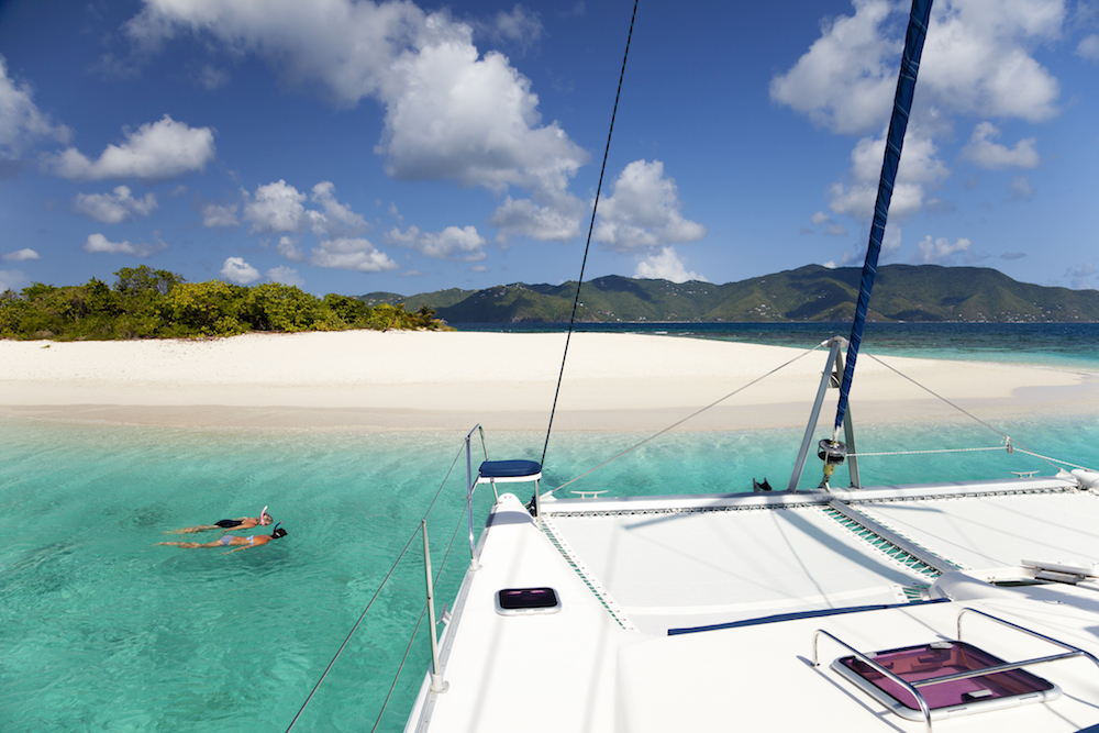 british virgin islands sandy spit crewed catamaran yacht charter