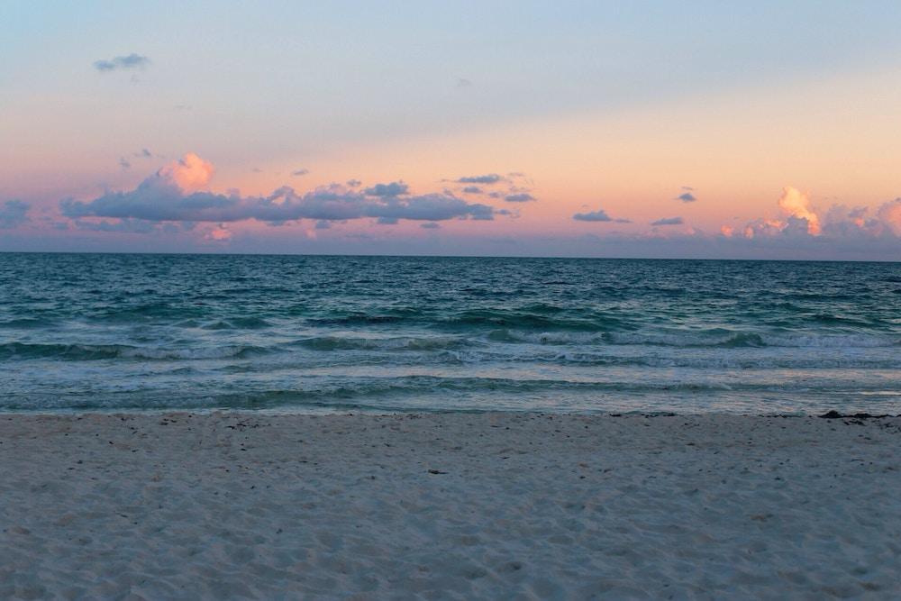 sea, sunset, sail, boat, beach