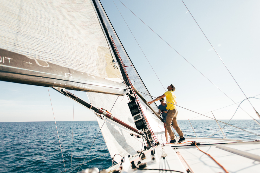 skipper on a sailing yacht