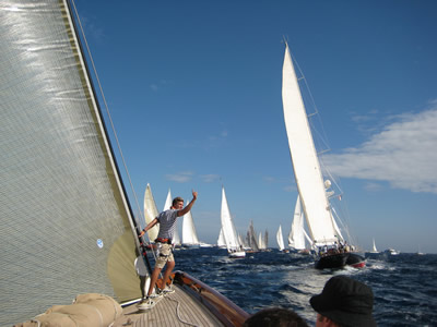 The excitement of the start of a Regatta