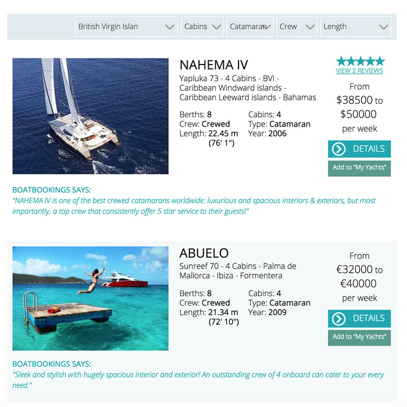See the search results quickly and easily