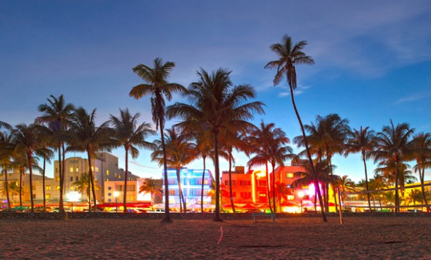The bright lights of South Beach Miami
