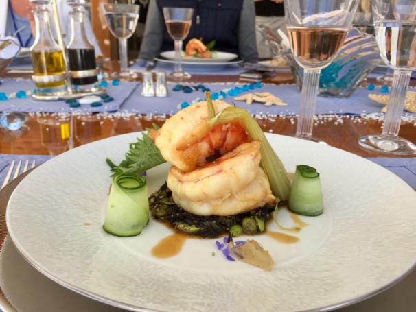 ECLIPSE - Luxury Motor Yacht - Fine Dining Prawn Starter