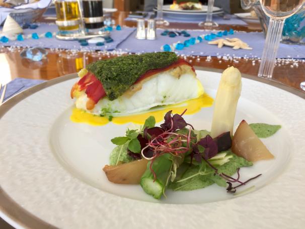 ECLIPSE - Luxury Motor Yacht - Fine Dining Seabass Main