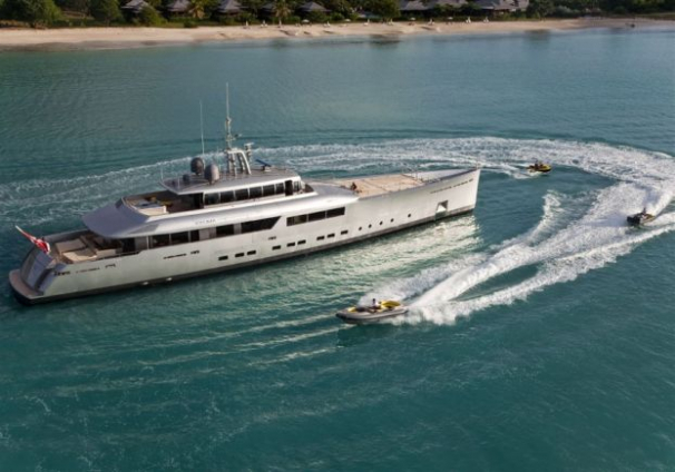 A futuristic and eye catching yacht!