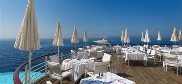 Dining in Billionaire's Bay at Cap D'Antibes Hotel Eden Roc du Cap