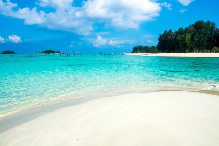 The gorgeous white sandy beaches in Andaman Islands