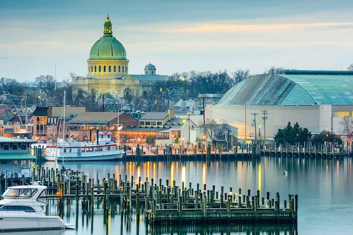 Visit the gorgeous buildings in Annapolis and Chesapeake Bay