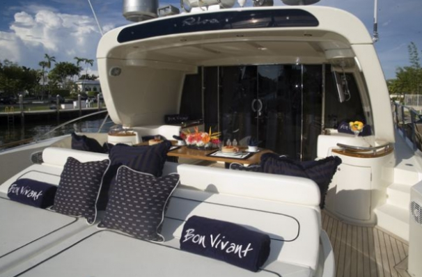 Great decks on board this Riva