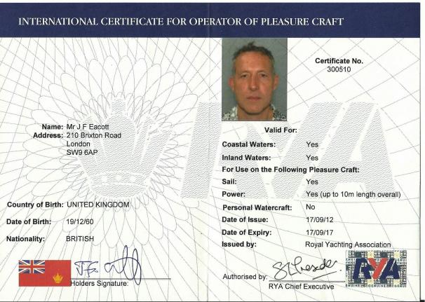 Image result for ICC sailing license