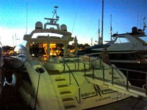 Luxury Motor Yacht Mangusta , docked at Antibes