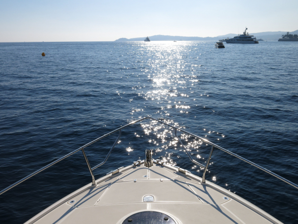See across the ocean from on board your yacht.