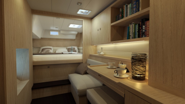 Extensive and comfortable owner's cabin.
