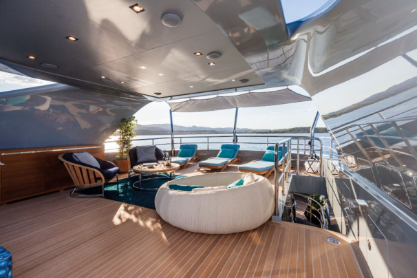 Sun Deck - complete with comfortable lounging and seating options, a very sociable layout.
