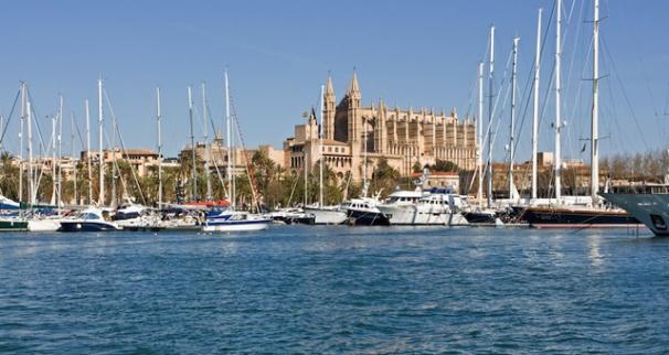 Yachts in port in Palma De Mallorca
