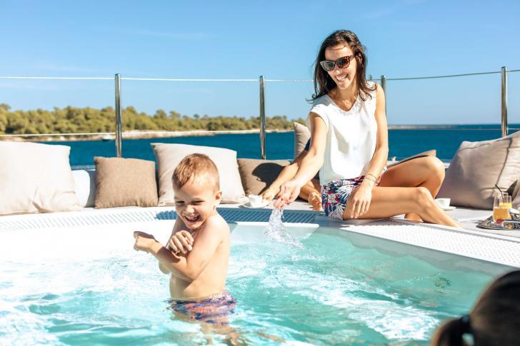 Saronic Islands Luxury Crewed Motor Yacht Charter