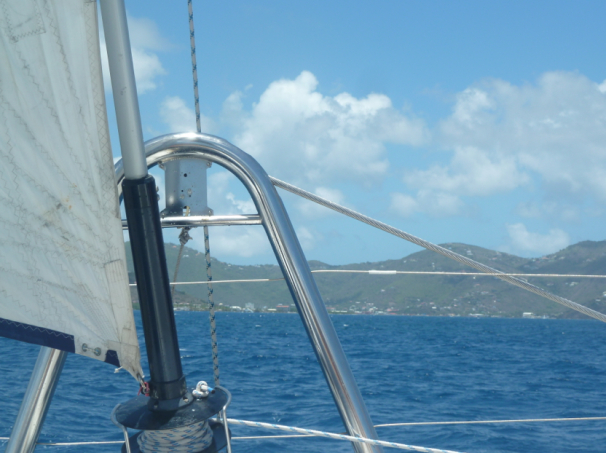 Sailing back to Road Town from Norman Island