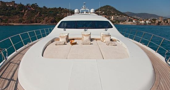Where better to sunbathe than on this Mangusta