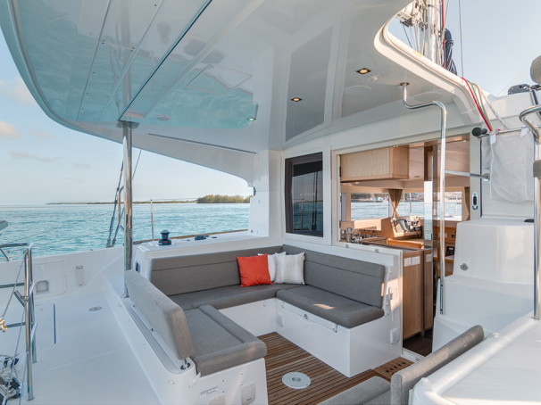 Plenty of space to socialise on the aft deck with friends and family.