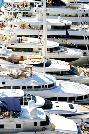 Photo of the Monaco Yacht Show