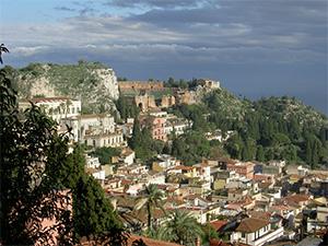 Taormina in Sicliy