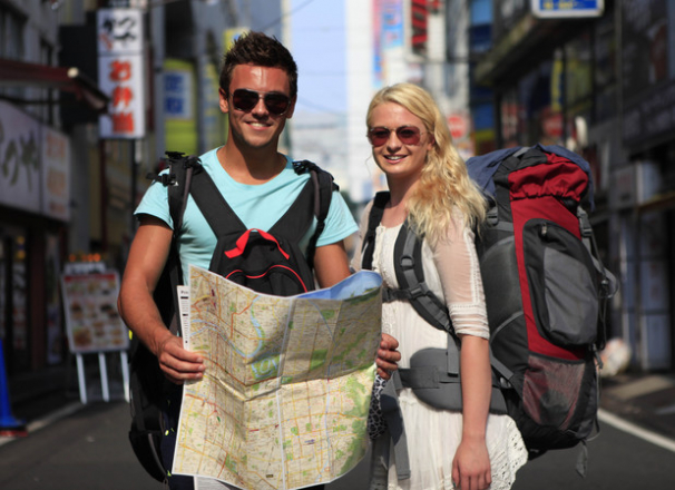 Tom and Sophie on their travels!