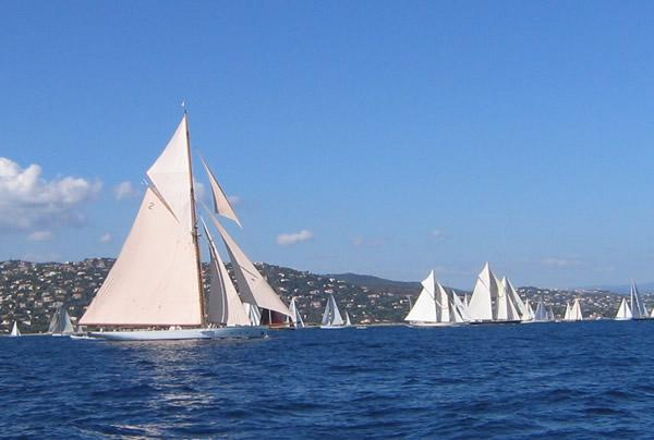 Charter a yacht to view the Voiles St Tropez Regatta