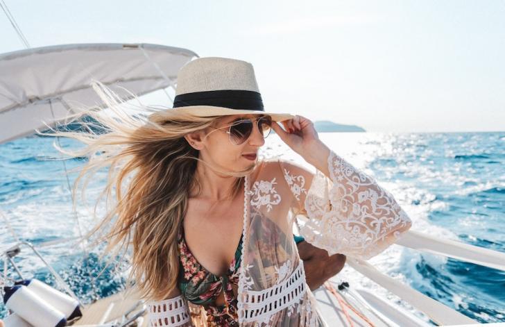 woman bareboat