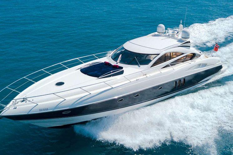Charter Yacht REHAB - Sunseeker Predator 68 - 2 Cabins - Antibes - Cannes - St Tropez - Monaco