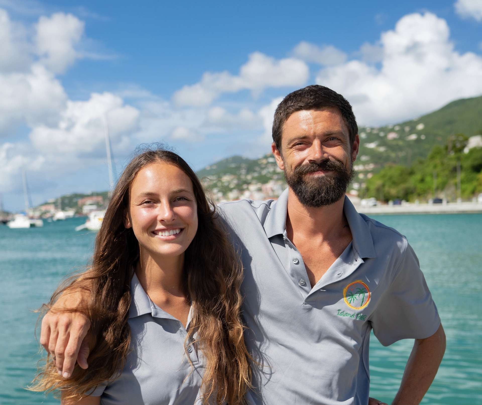 Thomson and Shayna first crossed paths on the ocean while enjoying a cruise on a classic wooden schooner with mutual friends off the coast of Tybee Island,GA. Shortly after they were inseparable and started a life of adventure,sharing a deep passion for