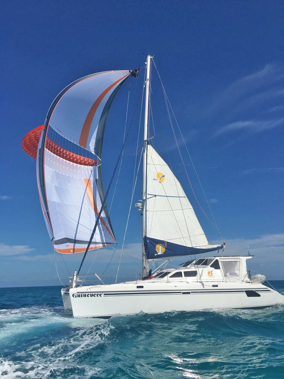 Charter GUINEVERE through the stunning islands of the Bahamas. You'll reach some of the most beautiful,white sand beaches found anywhere in the world. The multi-colored marine life is a thrill to snorkelers and divers. Sailing over the crystal clear turq