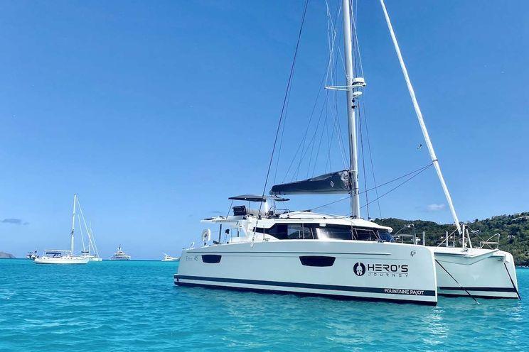 Charter Yacht HEROS JOURNEY - Fountaine Pajot 45 - 2 Cabins - Virgin Islands - St Thomas - Tortola - Virgin Gorda - St John