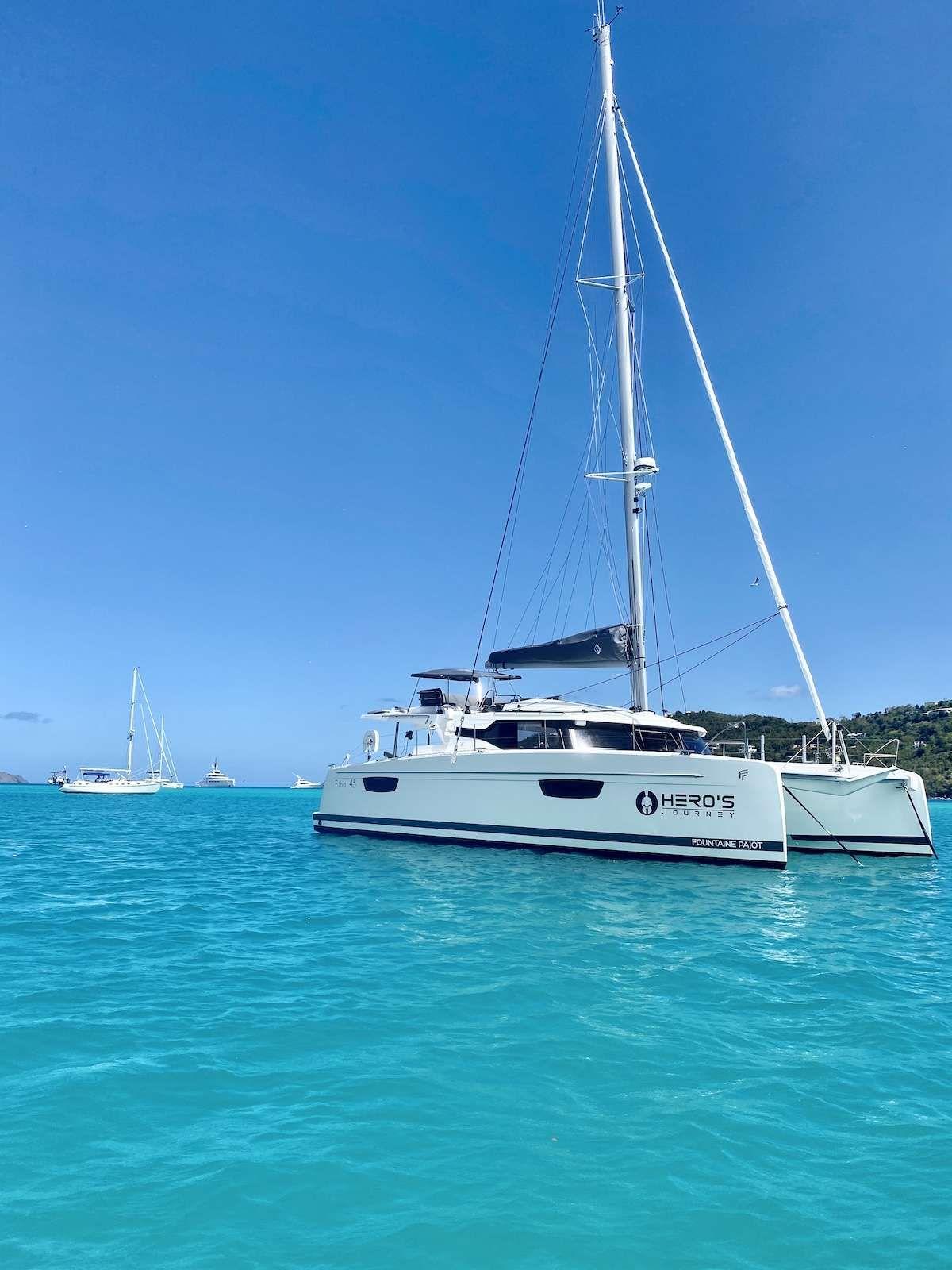HEROS JOURNEY - Fountaine Pajot 45 - 2 Cabins - Virgin Islands - St Thomas - Tortola - Virgin Gorda - St John