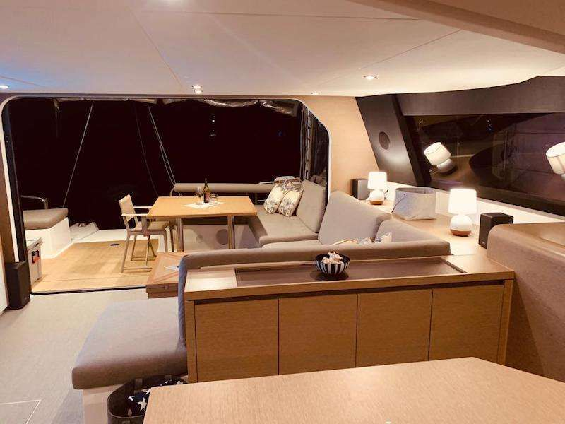 view of the aft deck from the saloon